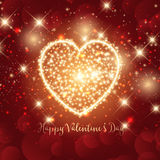 Sparkle heart Valentines day background Royalty Free Stock Image