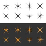 Sparkle icons Royalty Free Stock Photo