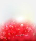 Sparkle light on red abstract background. Valentine`s day greeting or invitation card royalty free illustration