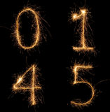 Sparkle numbers set Royalty Free Stock Image
