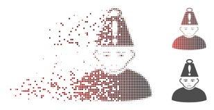 Sparkle Pixel Halftone Head Stress Weight Icon stock illustration