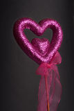 Sparkle purple love heart. Royalty Free Stock Photos