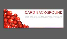 Sparkle red circles. Voucher card, greeting card, banner. VECTOR illustration. Sparkle red circles on white background. Voucher card, greeting card, banner Royalty Free Stock Photos