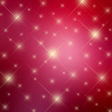 Sparkle red stars background Royalty Free Stock Image