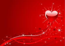 Sparkle  red  Valentine background Stock Images