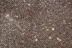 Sparkle of silver brown fabric Royalty Free Stock Photos