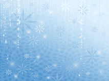 Sparkle Snowflakes Blue Royalty Free Stock Photo