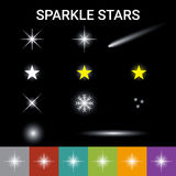 Sparkle stars effect Stock Images
