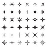 Sparkle stars icons. Symbols of sparkle, glint. gleam, etc. Stock Photos