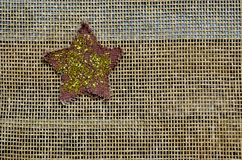 Sparkle and twinkle star on mesh background Stock Photos