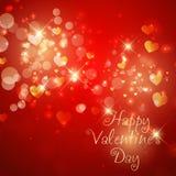 Sparkle Valentine's Day background Stock Photography