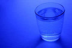 Sparkle water in glass Stock Photography