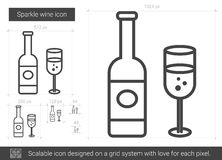 Sparkle wine line icon. Royalty Free Stock Photo