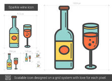 Sparkle wine line icon. Stock Photography