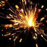 sparkler żółty Zdjęcie Royalty Free
