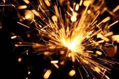 sparkler żółty Fotografia Stock
