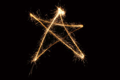 sparkler αστέρι στοκ φωτογραφίες