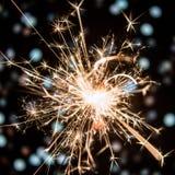 Sparkler με το υπόβαθρο bokeh Στοκ Εικόνα