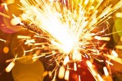 Sparkler στενό Στοκ Εικόνες