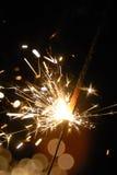 Sparkler στο σκοτάδι Στοκ Εικόνες