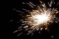 Sparkler στο σκοτάδι Στοκ εικόνα με δικαίωμα ελεύθερης χρήσης