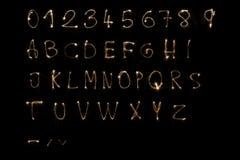 sparkler алфавита Стоковые Изображения