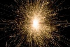sparkler ночи Стоковая Фотография RF