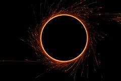 sparkler пожара круга Стоковая Фотография