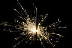 sparkler предпосылки черный Стоковое Изображение