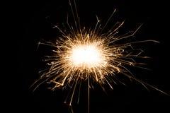 sparkler предпосылки черный Стоковые Изображения RF