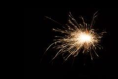 sparkler предпосылки черный Стоковая Фотография