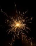 sparkler предпосылки черный Стоковые Фото