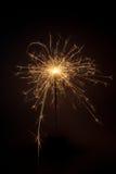 sparkler предпосылки черный Стоковое Фото