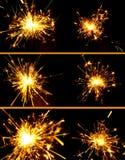 sparkler рождества установленный Стоковая Фотография RF