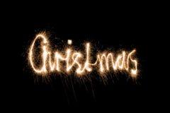 sparkler рождества Стоковое Фото
