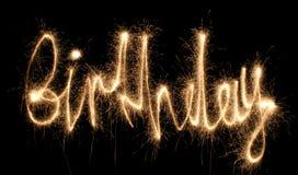 sparkler дня рождения Стоковые Фото