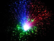 Sparkler. Holiday multicolored stars sparkler closeup Royalty Free Stock Photo