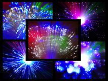 Sparkler. Holiday multicolored stars sparkler closeup Royalty Free Stock Image