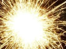 Sparkler!. Macro of sparkler/firework at night Stock Photography