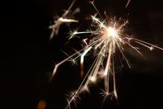 Sparkler. Burning sparkler which made stars Stock Photography