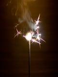 Sparkler. Bengal light, small sparkler. Short exposure Stock Photo