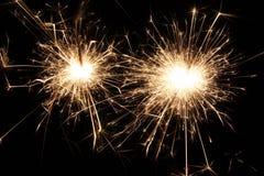SPARKLER. Macro of sparkler/firework at night Stock Photography
