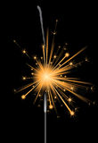 Sparkler. Bright sparkler over black background royalty free illustration