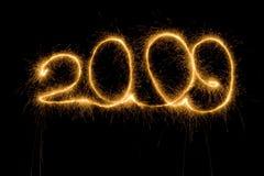 sparkler 2009 номеров стоковое изображение rf