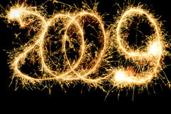 Sparkler 2009 number royalty free stock images