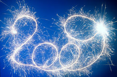 Sparkler 2009 number Royalty Free Stock Images