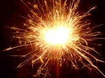 Sparkler!. Lit sparkler in the dark Stock Images