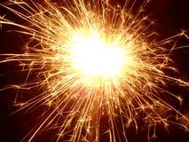 Sparkler!. Lit sparkler in the dark Royalty Free Stock Images