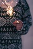 sparkler Foto de archivo libre de regalías