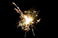 Sparkler. Close up of lit up sparkler Royalty Free Stock Photography